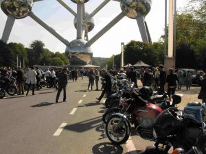 Riders at the Atomium