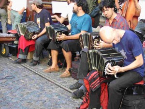Musicians at Plaza San Domingo market