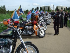 Flag carriers at the National Memorial Arboretum